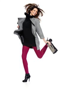 Studio-white-background-action-women's-fashion-ecommerce-legwear-image
